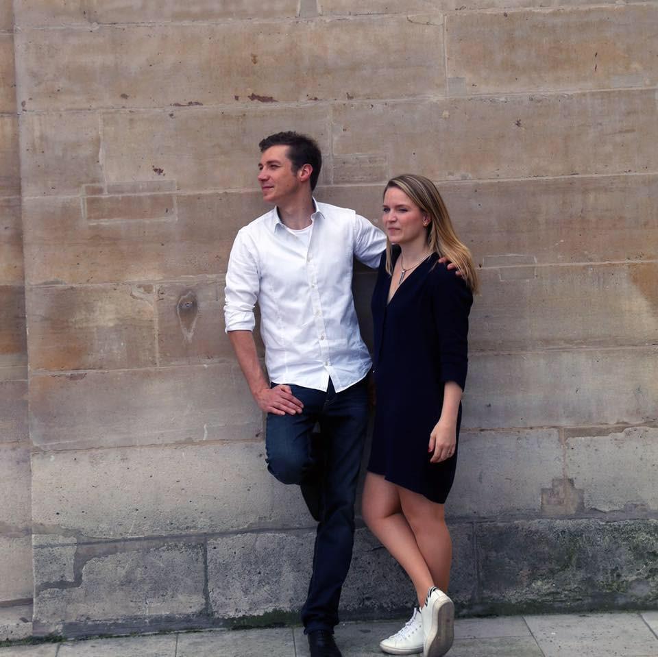Le chef Ewout Vranckx et son épouse