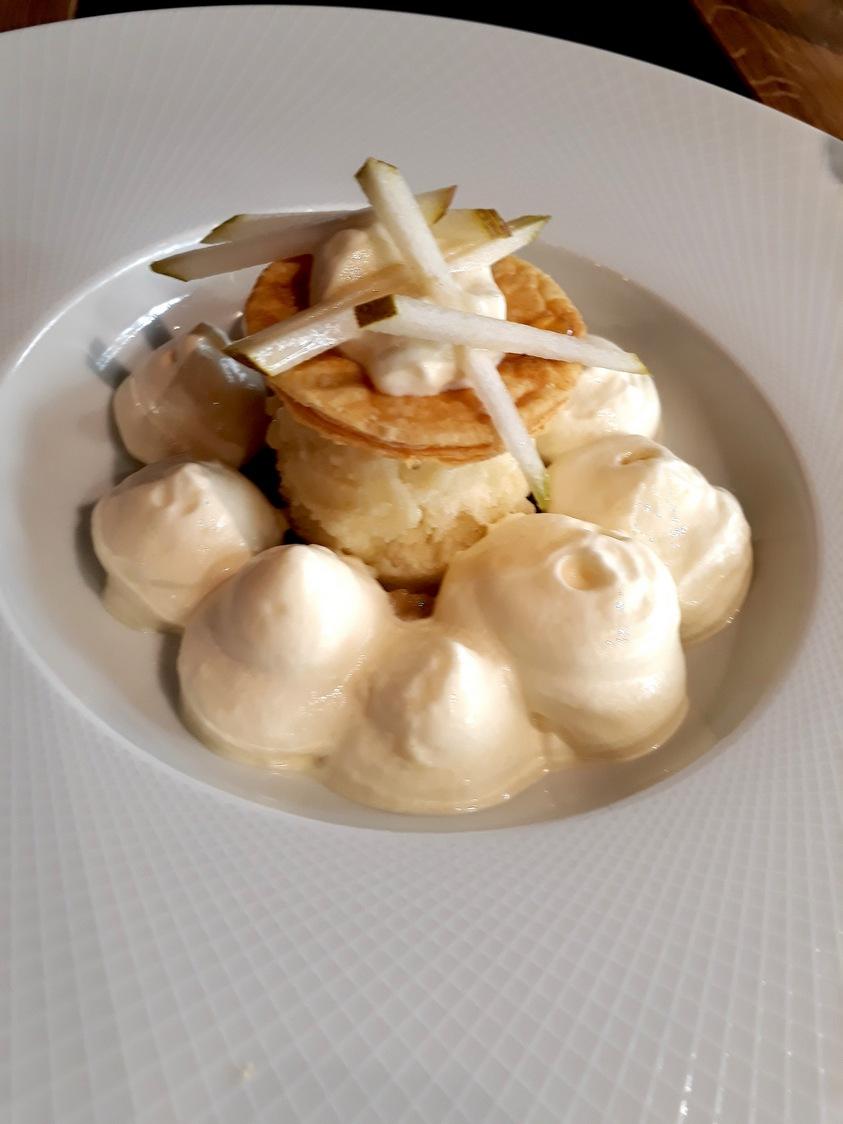 Poires cuites_crues_sorbet © Gourmets&Co