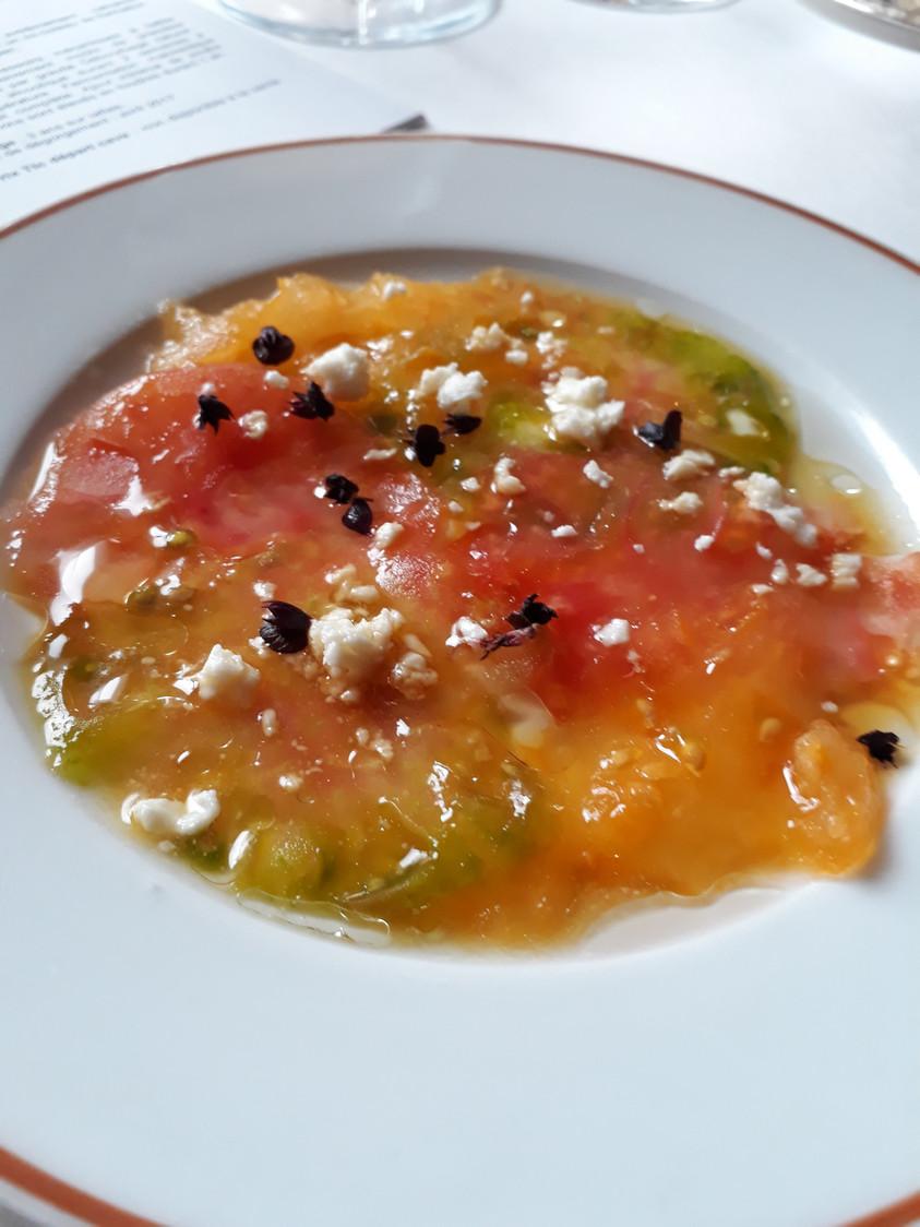 Carpaccio de tomates, verveine © Gourmets&co