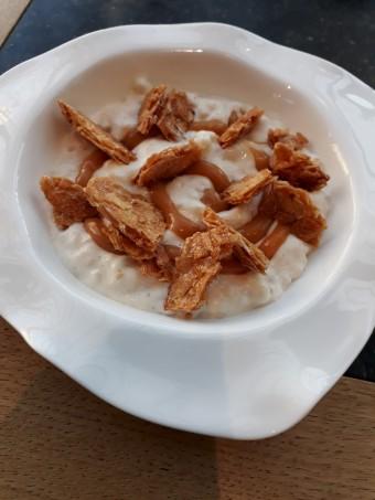 Riz au lait, amandes caramélisées © Gourmets&co