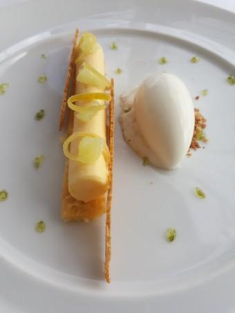 Citron en crémeux et croustillant © Gourmets&co