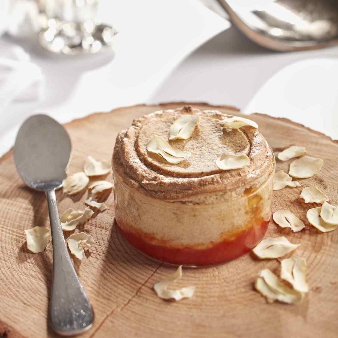 Soufflé croustillant à la chataîgne, marmelade pamplemousse - copie