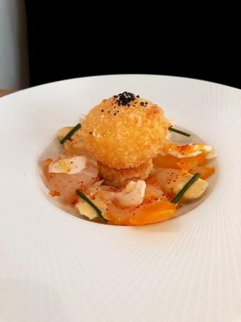 Haddock cru et cuit, croustillant d'œuf © Gourmets&co