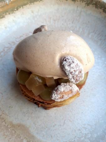 Pommes pressées, glace beurre noisette © Gourmets&co