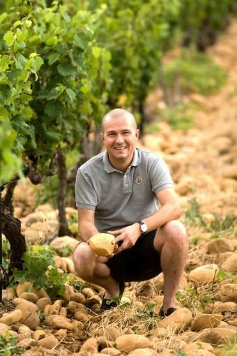 Richard Maby dans les vignes bd