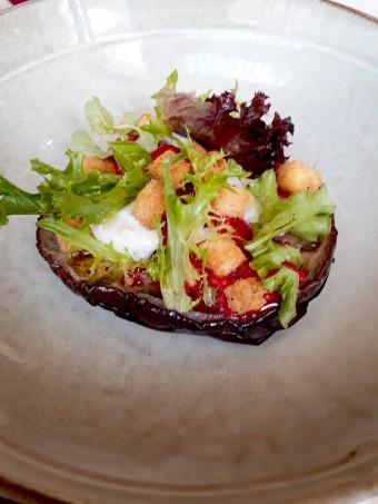 Aubergine, Saint Maure, framboises © Gourmets&co
