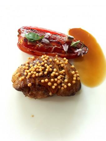 Ris de veau, tomate des Andes, riz soufflé © Gourmets&co