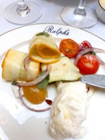 Lemon marinated zucchini.... © Gourmets&copg