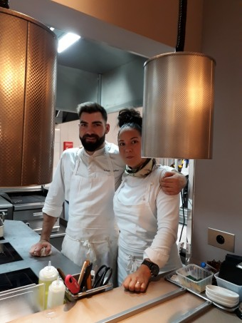 La chef et son second © Gourmets&co