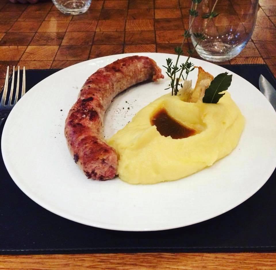 The famous Saucisse purée