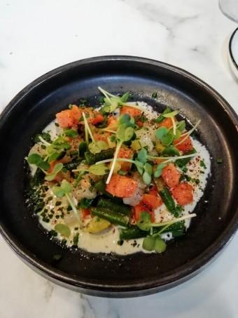 œuf mollet, mosaïque de légumes aux herbes © Gourmets&co