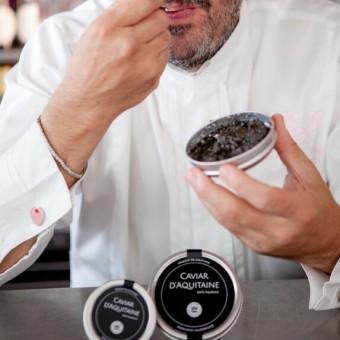 Yves Camdeborde & caviar d'Aquitaine