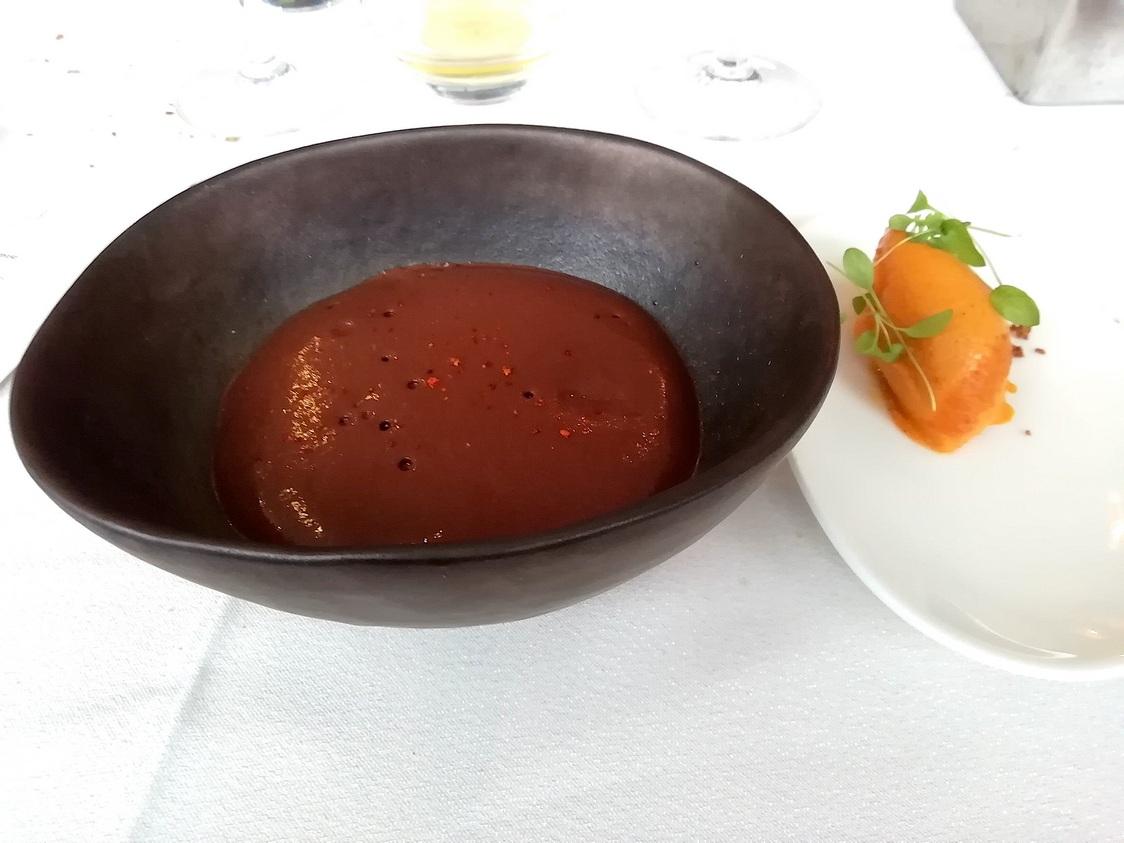 Mousse chocolat tiède, piment Espelettre © Gourmets&co