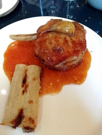 Côte de veau , macaronis, cèpes © Gourmets&co