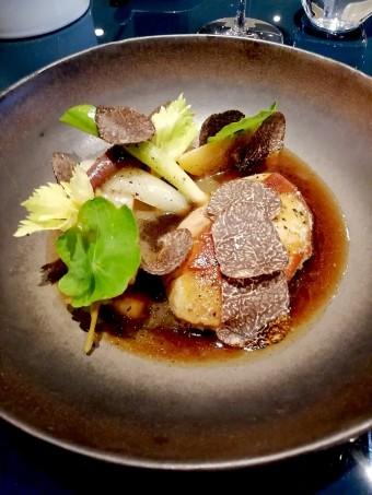 Foie gras poêlé, légumes... © Gourmets&co