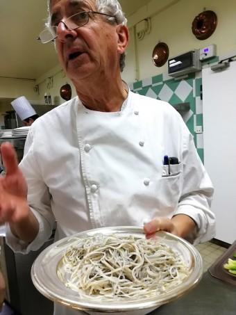 Jean Coussau et ses pibales © Gourmets&co