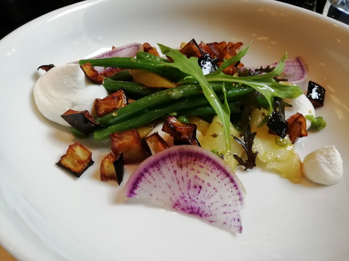 Ricotta fumée, légumes © Gourmets&co