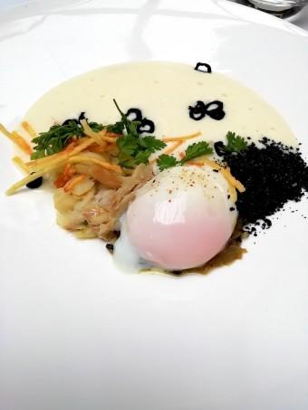 Oeuf 64, morue, pommes de terre © Gourmets&co