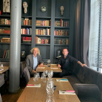 Avec le chef Kévin Matéos © Olivia Goldman
