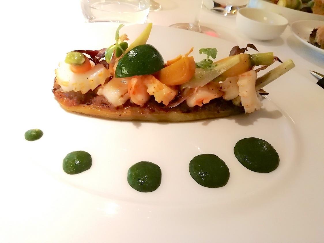 Auberge confite, légumes cuits et crus © Gourmets&co