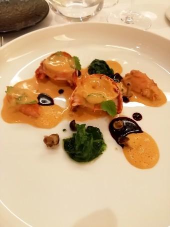 Homard, carcasse et chair, crémeux de homard © Gourmets&co