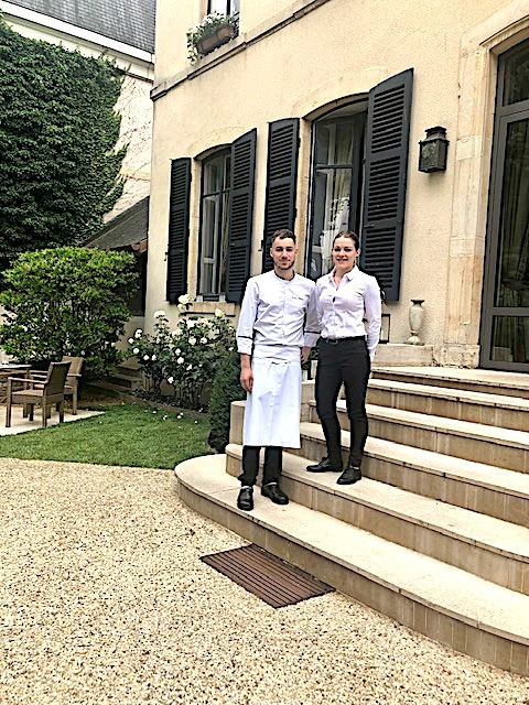 Le chef Jordan Billan & Gwendoline Baton , responsable restaurant