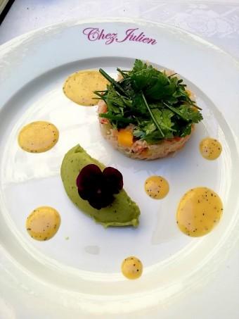 Tourteau, guacamole © Gourmets&c