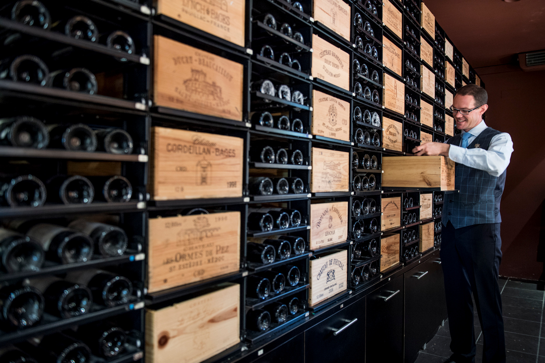 Cave du restaurant & chef sommelier Arnaud Le Saux @AnneEmmanuelleThion