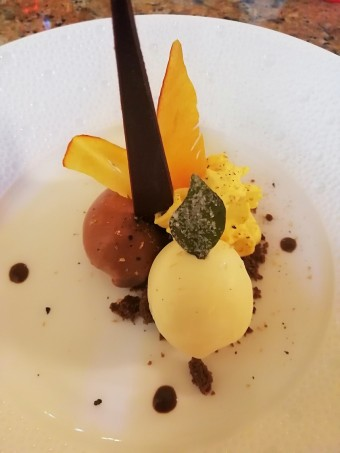 Glace chocolat, potimarron, curry © Gourmets&co