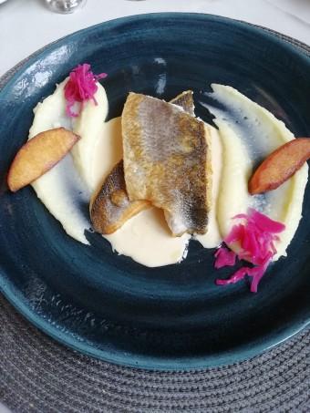 Filet de bar, crème de cidre © Gourmets&co .