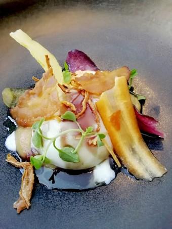 Oeuf parfait, confit d'oignons © Gourmets&co