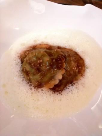 Langoustines, Ravioles de parmesan. © Gourmets&co pg