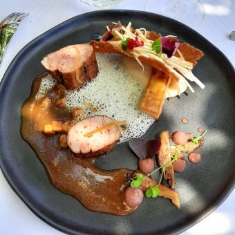Cochon, jus de veau au foie gras © Patrick Faus