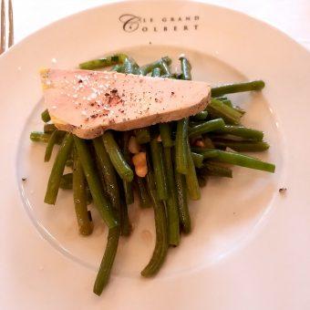 Salade haricots verts, foie gras